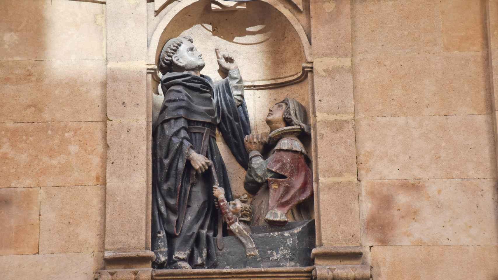 Recuerdo a San Juan de Sahagún, en Pozo Amarillo de Salamanca