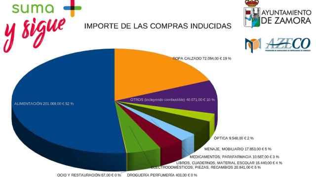 Gráfico Bonos Comercio Solidario de Zamora