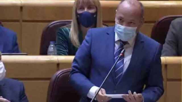 José María Barrios, durante su intervención en el Senado