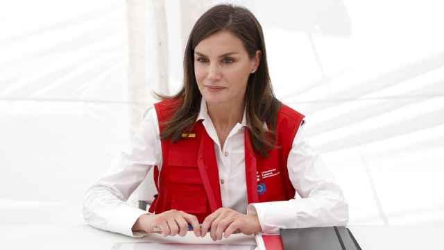 Letizia, en su viaje de cooperación a Mozambique.