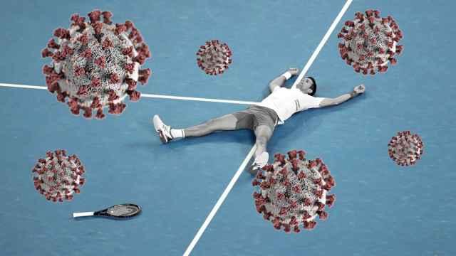 Novak Djokovic, en un fotomontaje