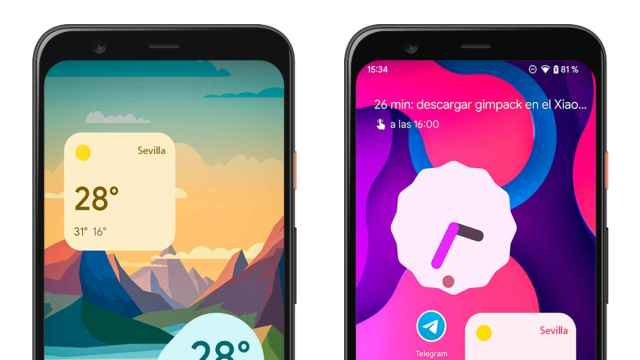 Estos son los nuevos widgets del tiempo de Android 12