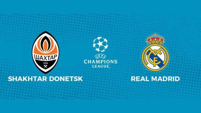 Shakhtar Donetsk - Real Madrid: siga en directo el partido de la Champions League con nosotros