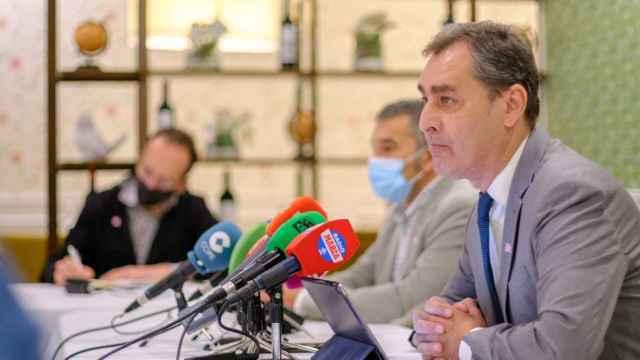 El delegado del Gobierno de España en Castilla-La Mancha, Francisco Tierraseca, este martes en Albacete.
