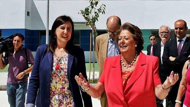 María José Catalá, actual presidenta del PP de Valencia, en una imagen de archivo junto a la exalcaldesa Rita Barberá. EFE