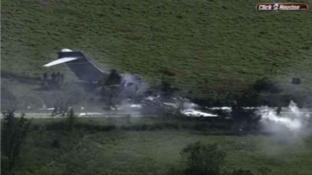 Imagen del avión accidentado en Texas.