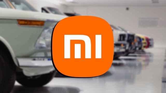 Coches y el logo de Xiaomi