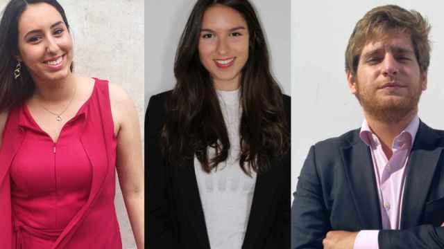 Laura, María y Javier, estudiantes de ADE.