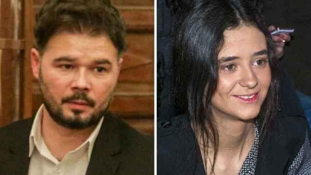 Rufián y Victoria Federica en un fotomontaje.