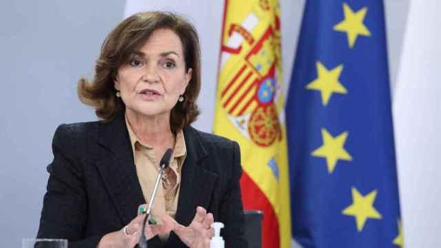 La exvicepresidenta del Gobierno, Carmen Calvo. EP