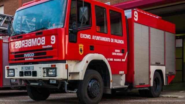 Camión de los Bomberos de Palencia