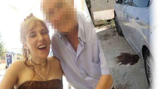 Conchi con su marido al que acabó asesinando en un aparcamiento pegado a la playa de Alicante.
