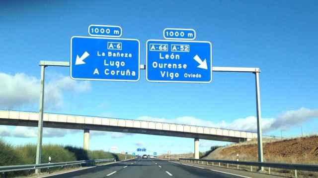 Autovía A-6 a su paso por Castilla y León