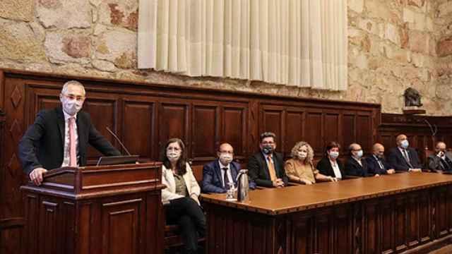 Ricardo Rivero hizo balance de su gestión rectoral durante un acto celebrado en el Aula Unamuno