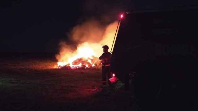 Incendio en Villalba de los Alcores