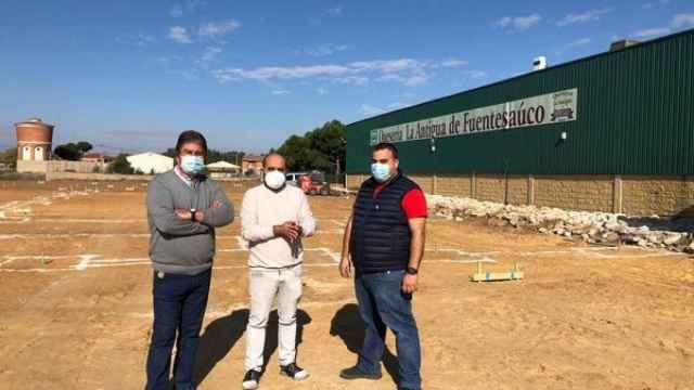 El alcalde de Fuentesaúco visita las obras