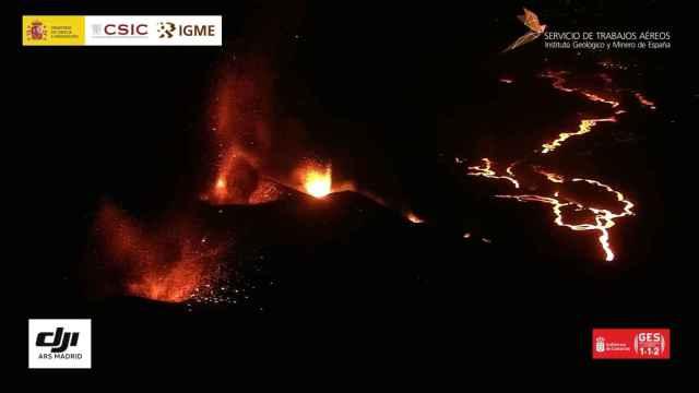 La cuarta boca del volcán de La Palma comienza a expulsar lava