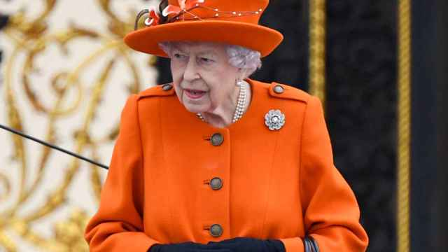 La reina Isabel II en Londres.
