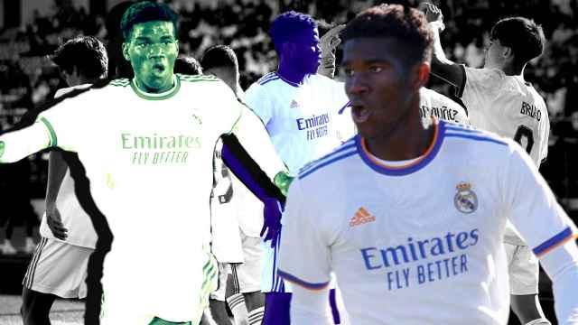 Marvel, en un fotomontaje en varios partidos del Real Madrid