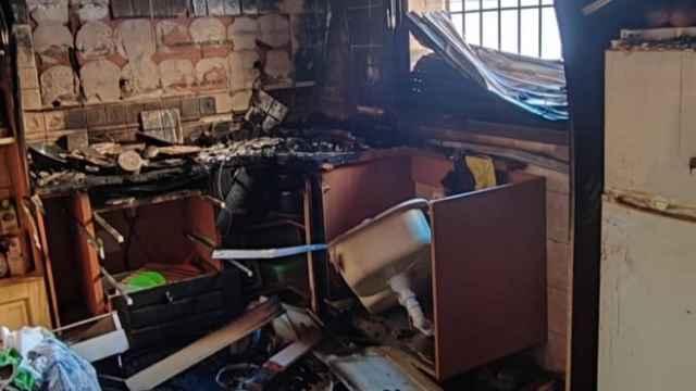 Incendio de la vivienda de Torrijos (Toledo). Foto: Consorcio Provincial de Extinción de Incendios y Salvamentos de Toledo