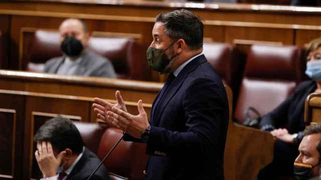Santiago Abascal, presidente de Vox, en el Congreso.