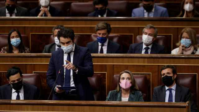 La bancada del PP, durante el pleno parlamentario de este miércoles.