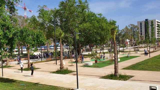 Imagen del parque construido en la zona de Martiricos.