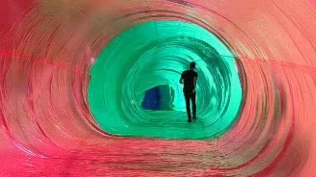 Video del interior del túnel creado en el Colegio de Arquitectos de Málaga.