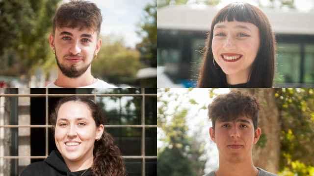 De arriba a abajo y de izquierda a derecha: Álvaro, Irene, Pauline y Diego.
