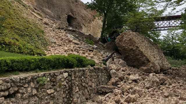 Derrumbe en Cuenca. Imagen de archivo