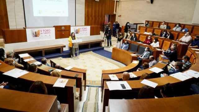 La vicepresidenta de la Diputación, Gema Gómez, en el  V Foro de Turismo Provincia de Valladolid