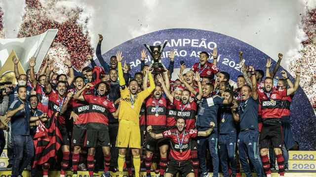 El Flamengo celebra un título