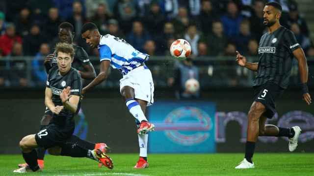 Aleksander Isak, en el Sturm Graz - Real Sociedad