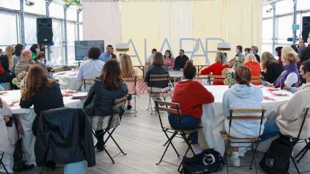 Acto en la Fundación A LA PAR en apoyo a los discapacitados