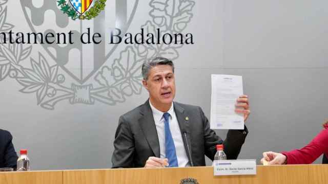 El todavía alcalde de Badalona, Xavier García Albiol. EP
