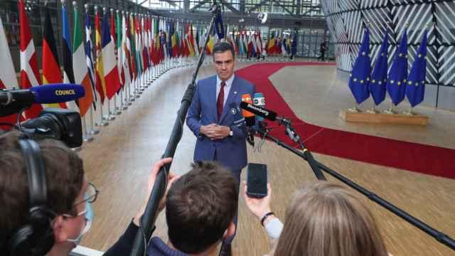 El presidente del Gobierno, Pedro Sánchez, en Bruselas.
