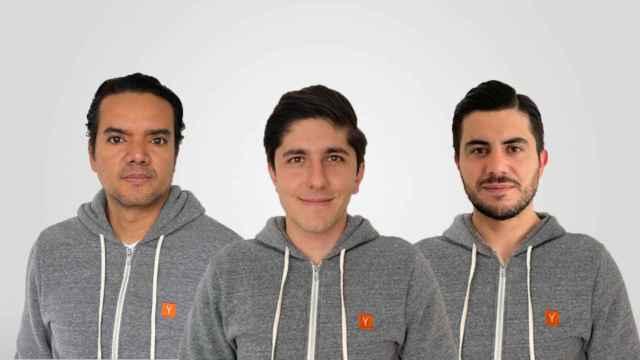 Los fundadores de OnTop, con el colombiano Julián Torres al frente.