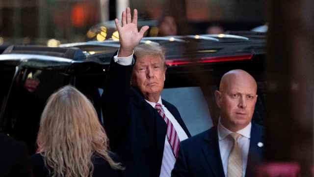 Donald Trump, a la salida de la Trump Tower.