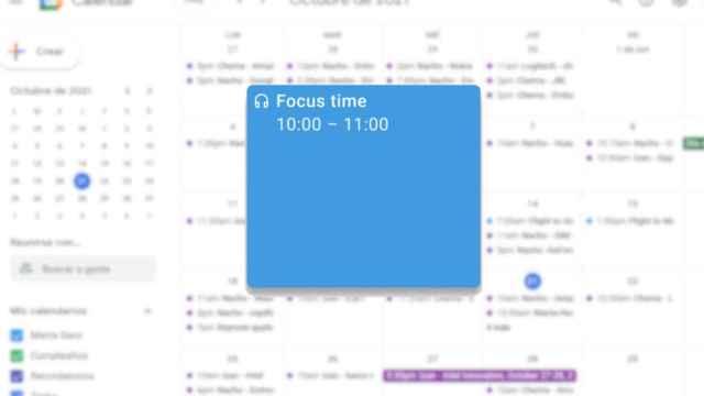 Focus Time en Google Calendar