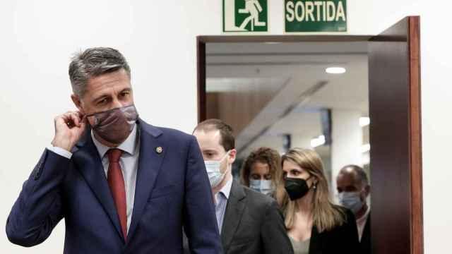 Xavier García Albiol, este viernes en el Ayuntamiento de Badalona.