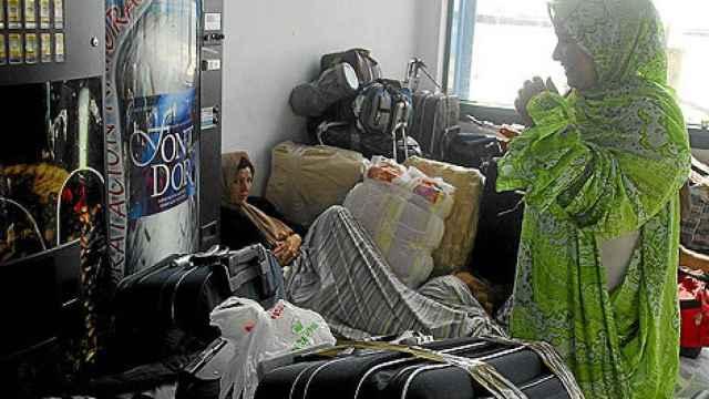 Una mujer argelina en el Puerto de Alicante en imagen de archivo.