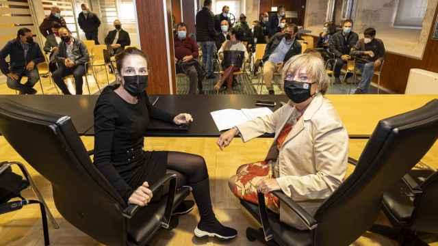 Imagen de la reunión mantenida este viernes