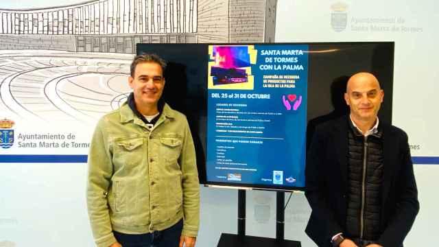 Jorge Moreno y Juan Carlos Bueno presentan la campaña a favor de La Palma