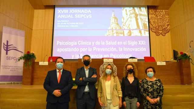 Participantes en la inauguración de las jornadas en la Universidad Pontificia