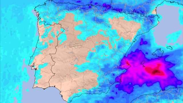 Precipitaciones acumuladas esperadas en las zonas afectadas. Meteored.
