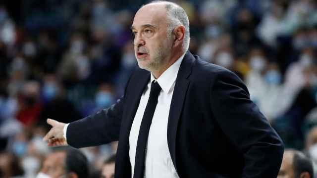 Pablo Laso, entrenador del Real Madrid de Baloncesto en la temporada 2021/2022