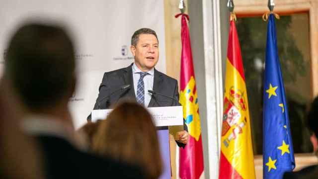 Emiliano García-Page durante la gala de entrega de las Medallas al Mérito Cultural de Castilla-La Mancha. Fotos: JCCM.