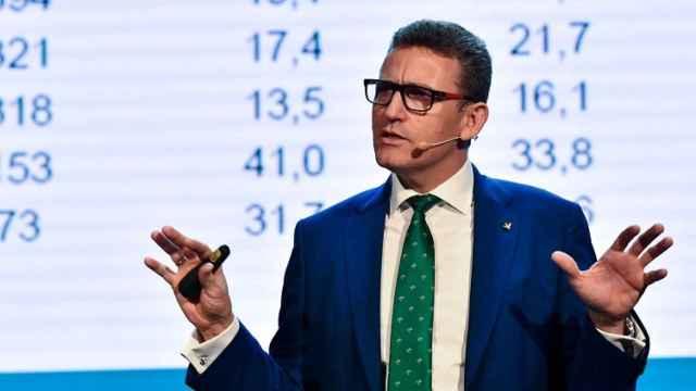 Víctor Manuel Martín, director general de Eurocaja Rural, durante su intervención.