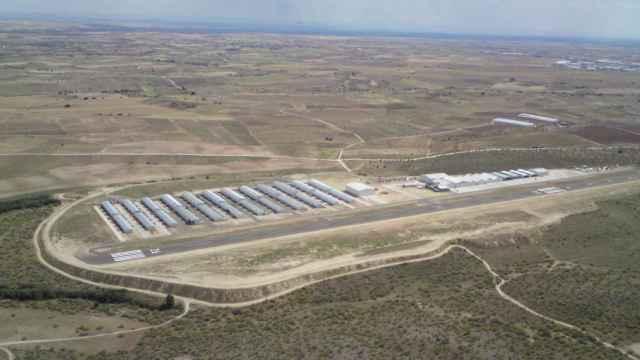 Vista aérea del aeródromo de Casarrubios del Monte (Toledo).