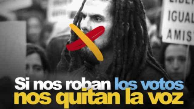 Imagen tuiteada por el fundador de Podemos Juan Carlos Monedero.